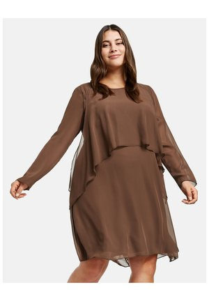 Day dress - cocoa brown