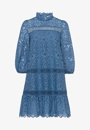 DRESS PUFFY SLEEVES MINI - Korte jurk - smoked sapphire