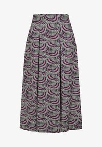 HotSquash - BOX - Áčková sukně - purple kimono print - 3