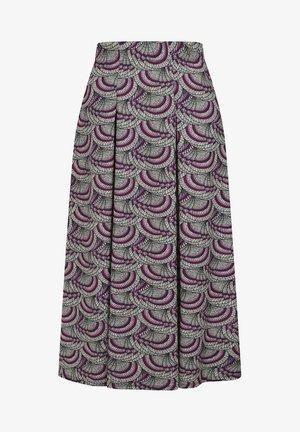 BOX - A-linjainen hame - purple kimono print