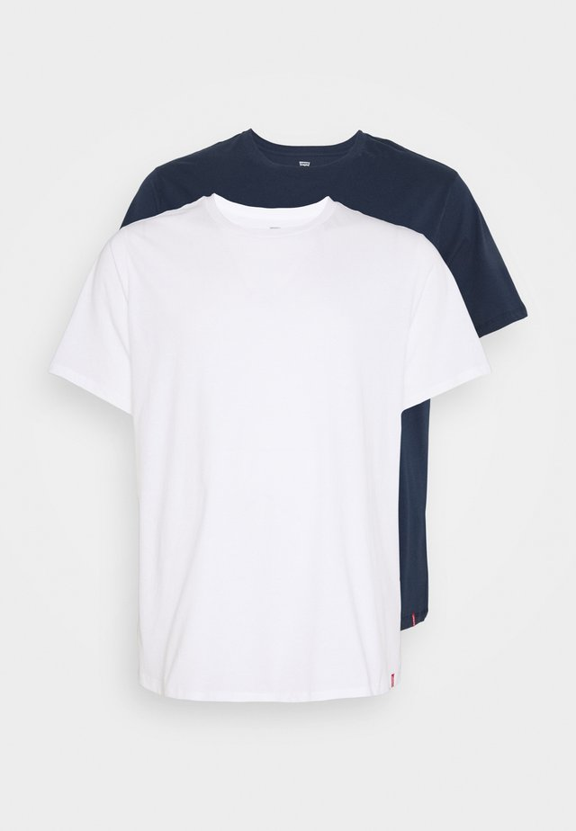 BIG TEE 2 PACK  - T-shirts - white/dress blues