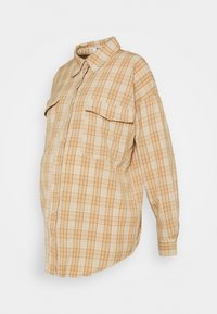 Missguided Maternity - UTILITY CHECK - Button-down blouse - cream - 0