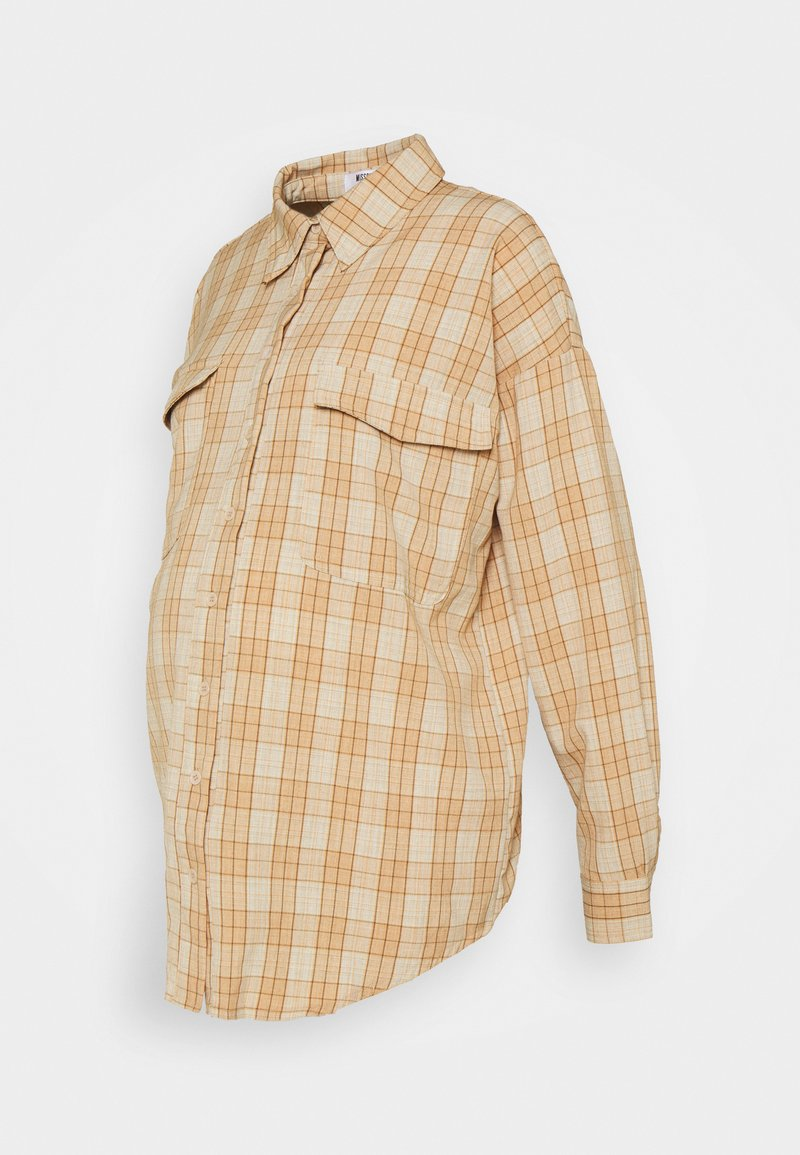 Missguided Maternity - UTILITY CHECK - Button-down blouse - cream