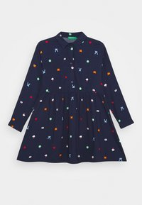 Benetton - FUNZIONE GIRL - Skjortekjole - dark blue - 0