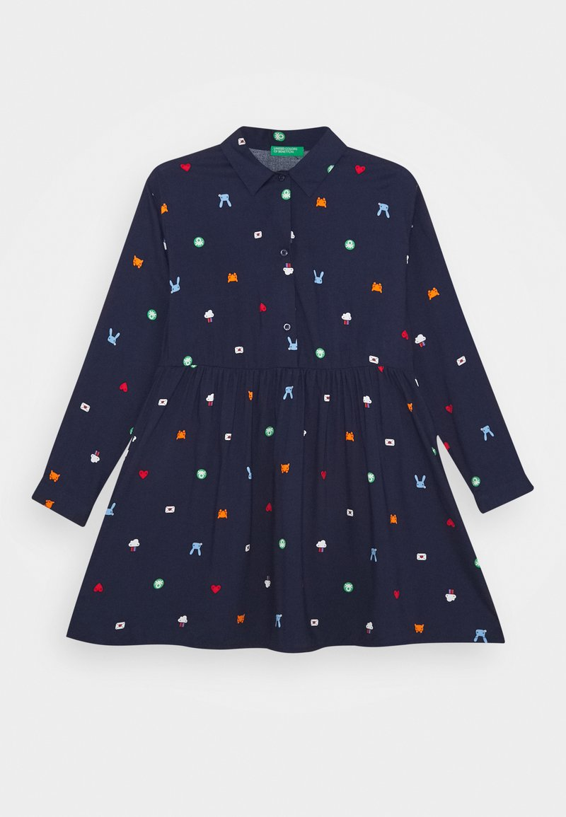 Benetton - FUNZIONE GIRL - Skjortekjole - dark blue