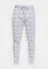 Topman - CHECK JOGGER - Pantaloni sportivi - grey - 2