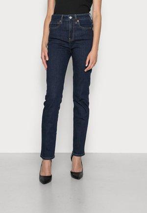 STRAIGHT FLEET - Straight leg jeans - dark indigo
