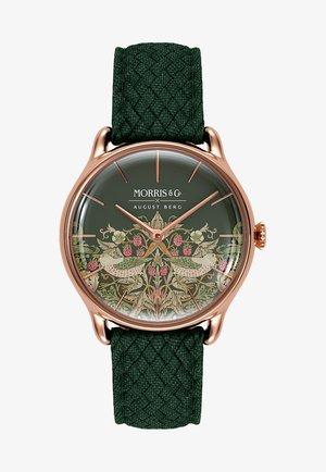 UHR MORRIS & CO ROSE GOLD GREEN PERLON 30MM - Watch - fennel