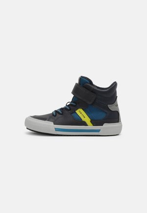 ALONISSO BOY - High-top trainers - navy/lime