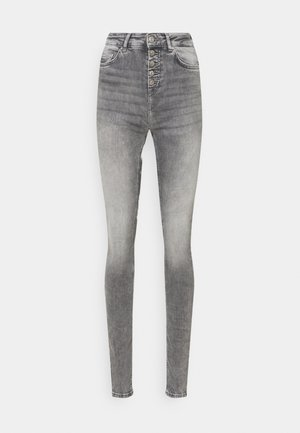 ONLBLUSH LIFE BUTTON - Jeans Skinny Fit - grey denim