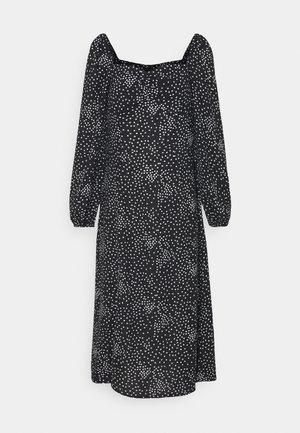 MILKMAID MIDI DRESS POLKA - Korte jurk - black