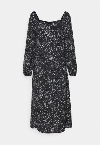 MILKMAID MIDI DRESS POLKA - Denní šaty - black
