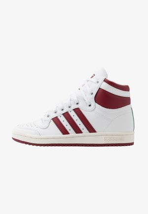 TOP TEN - Baskets montantes - footwear white/collegiate burgundy/chalk white
