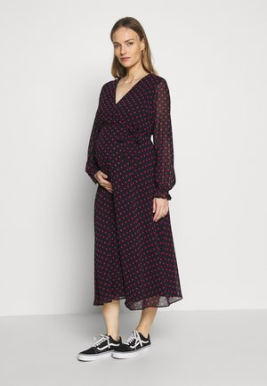 SPOT WRAP DRESS - Robe d'été - black