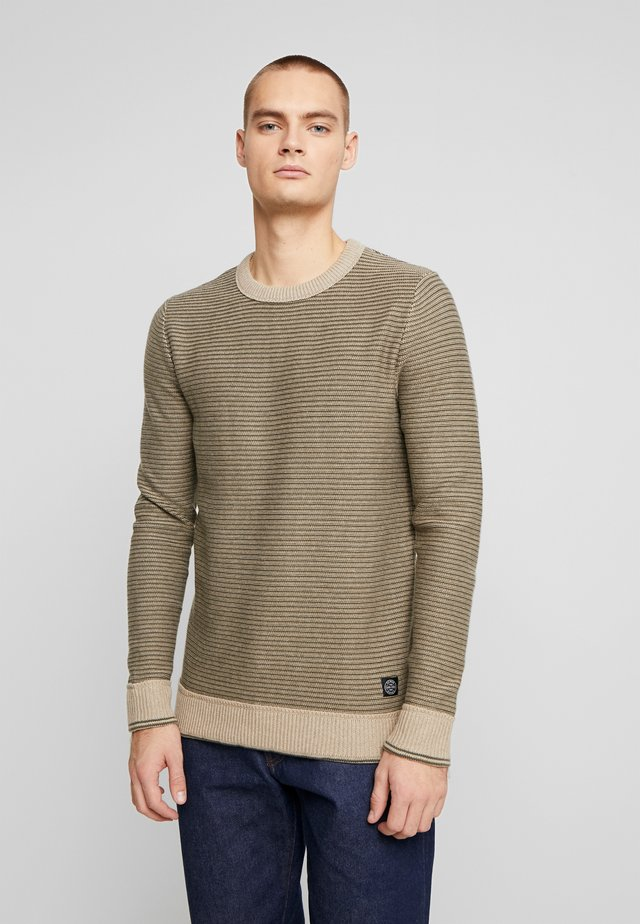 STRIPED - Strickpullover - sand