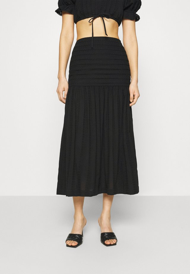 ELODIE MIDI SKIRT - Gonna a campana - black