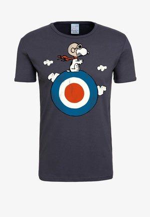 T-SHIRT SNOOPY - Print T-shirt - blaugrau