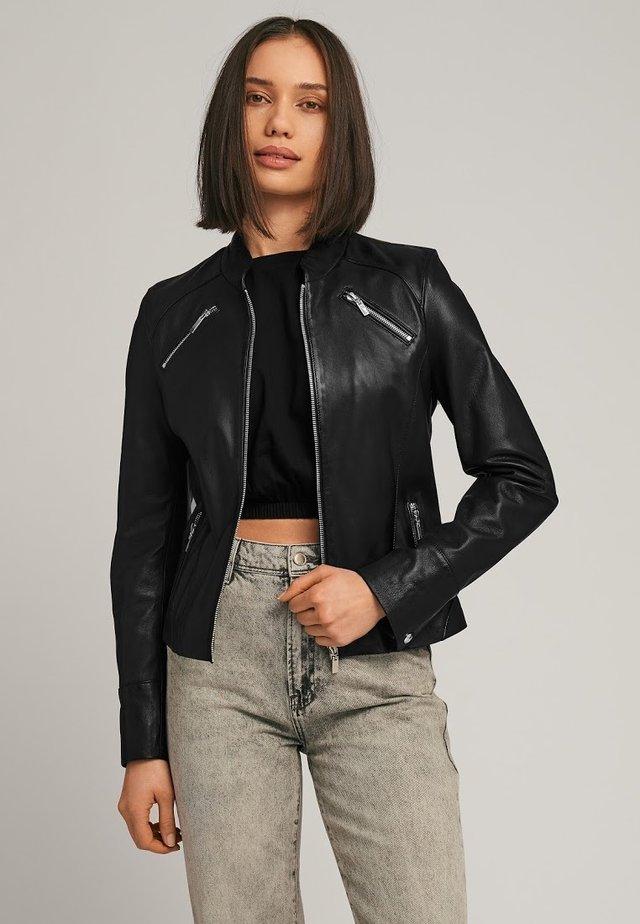 WILLOW - Leren jas - black
