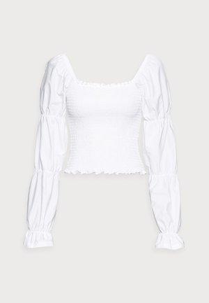 ONLDELI LIFE SMOCK MIX TOP - Pitkähihainen paita - bright white