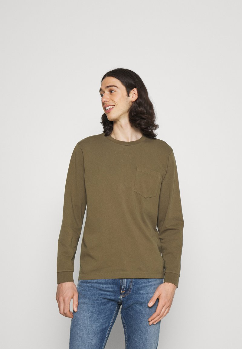 Nudie Jeans - RUDI - Langærmede T-shirts - army
