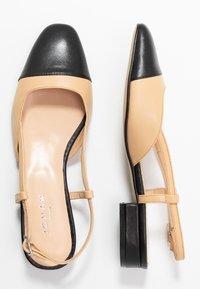 Jonak - DHAPOU - Slingback ballet pumps - noir/beige - 3