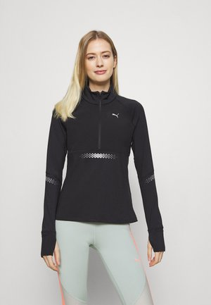 RUNNER ZIP - Funktionsshirt - black