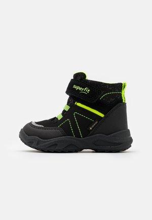 GLACIER - Winter boots - schwarz/gelb