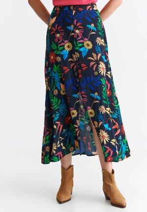 KARMEN - A-line skirt - navy blue
