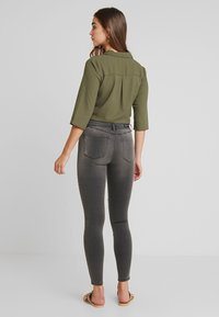 ONLY - ONLROYAL BIKER - Jeans Skinny Fit - dark grey denim - 2