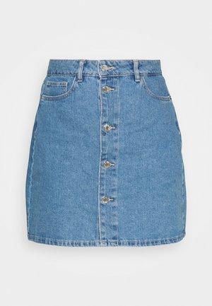 VMHARPER SKATER SKIRT - Mini skirt - light blue denim