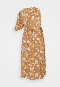 Glamorous Bloom - MIDI DRESSES WITH PUFF SLEEVES - Sukienka letnia - brown - 1