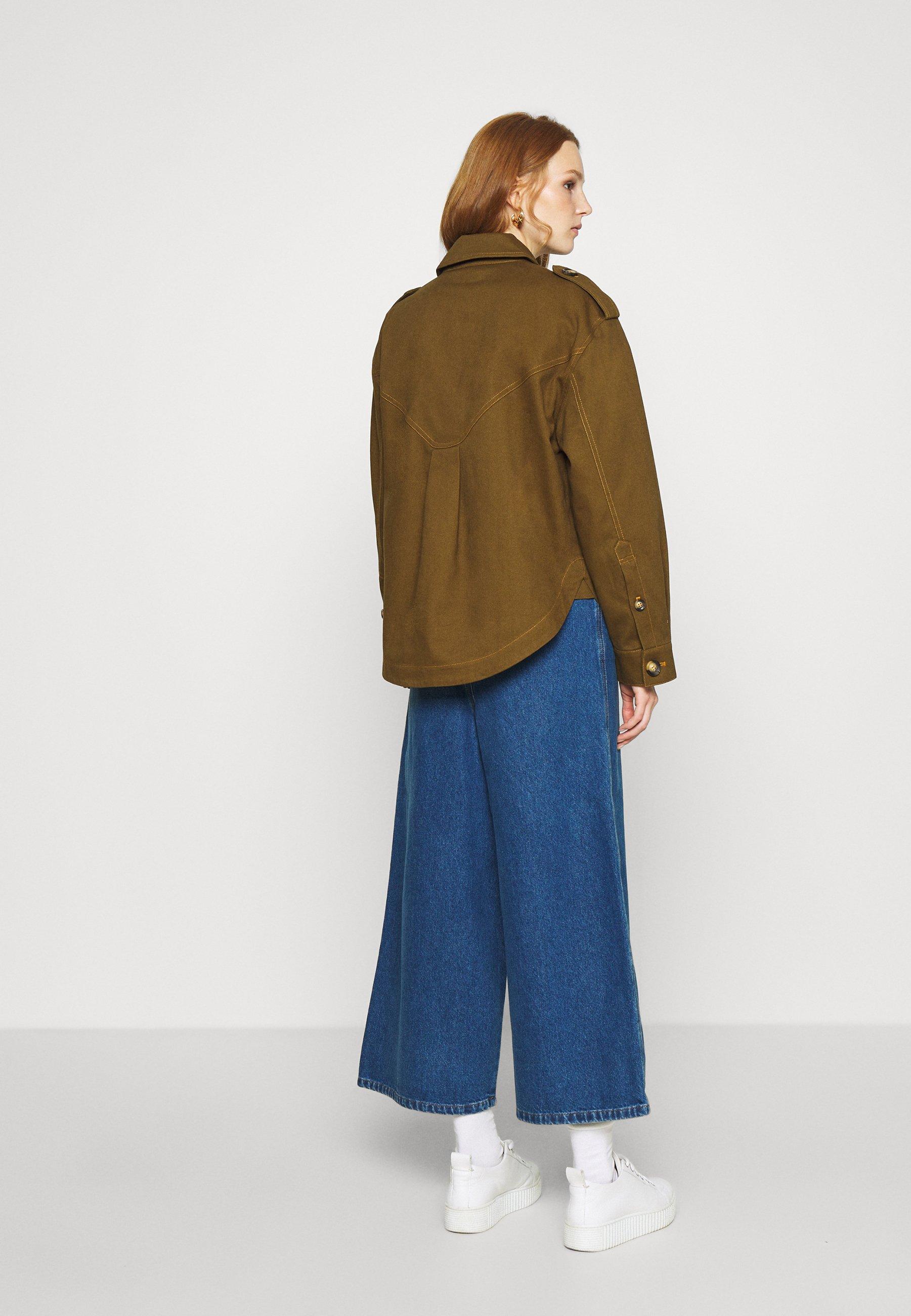 Cheapest Women's Clothing Gestuz BETONY JACKET Denim jacket dark olive nHwypZ2sM