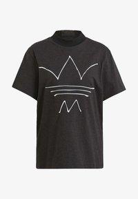 adidas Originals - TEE - T-shirt print - black melange - 6