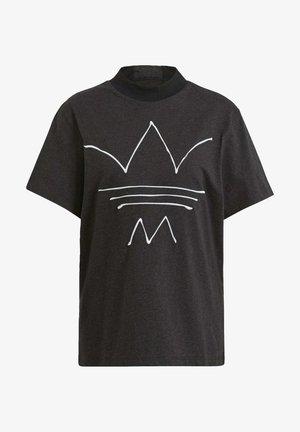 TEE - T-shirt med print - black melange