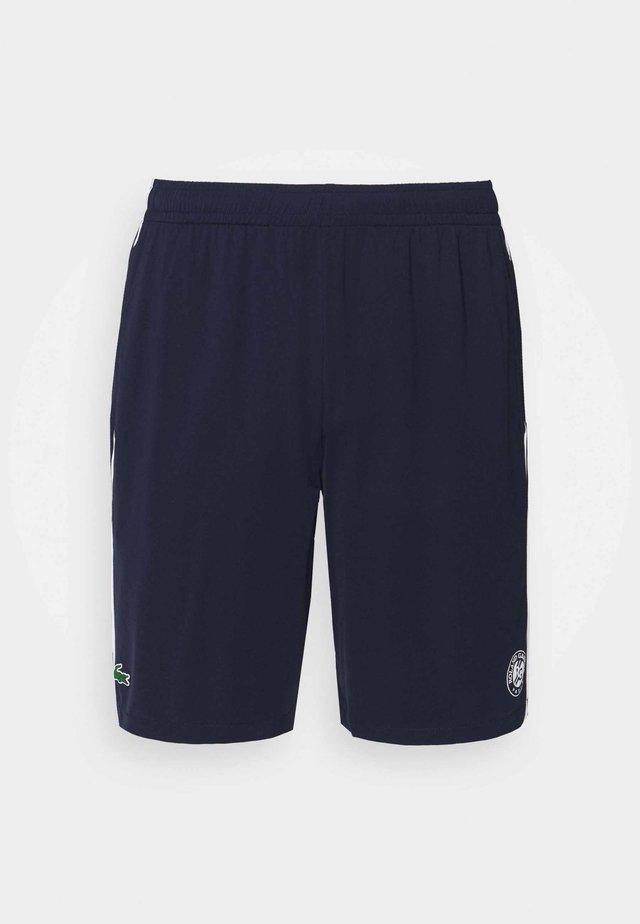 TENNIS SHORTS - Sports shorts - navy blue/white