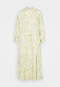 mine to five TOM TAILOR - DRESS DRAWSTRING - Shirt dress - mellow yellow - 0