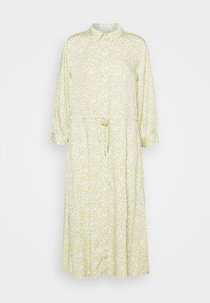 DRESS DRAWSTRING - Vestido camisero - mellow yellow