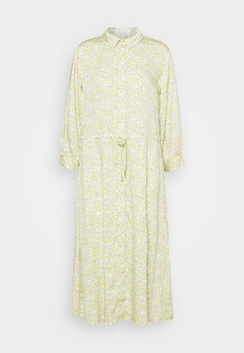 DRESS DRAWSTRING - Shirt dress - mellow yellow