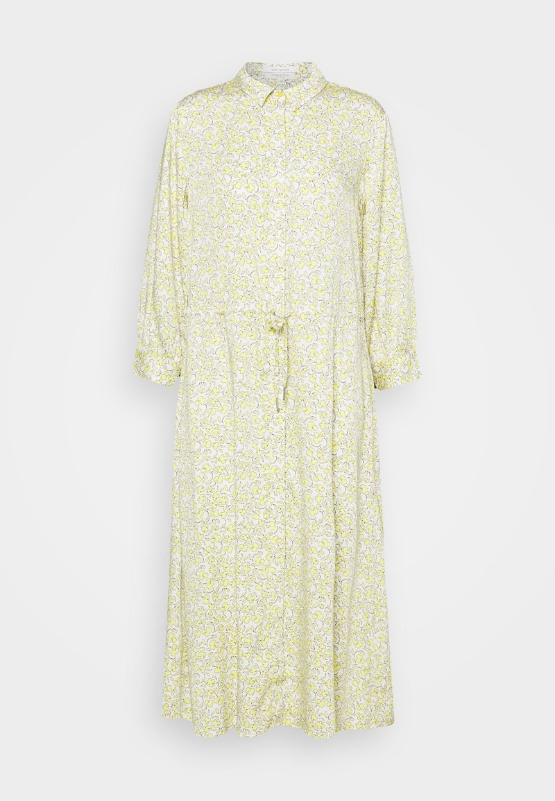 mine to five TOM TAILOR - DRESS DRAWSTRING - Shirt dress - mellow yellow