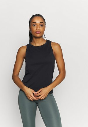 SEAMLESS BLOCKED TANK - Top - black