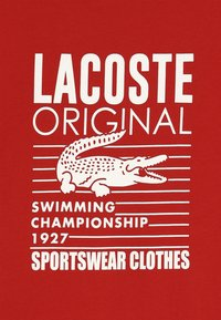 Lacoste - Print T-shirt - red - 4