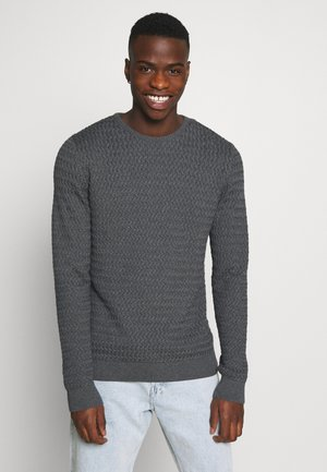 FIELD ONECK STRUCTURED  - Jumper - dark grey