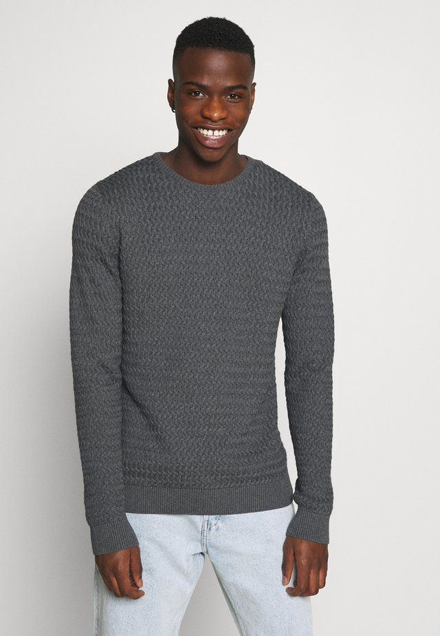 FIELD ONECK STRUCTURED  - Pullover - dark grey