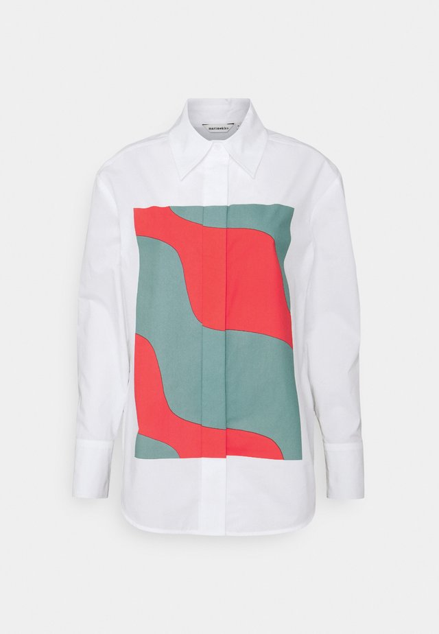VEYTYS TAIFUUNI - Button-down blouse - white/turquoise/red