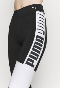 Puma - TRAIN FAVORITE LOGO HIGH WAIST - Medias - puma black/puma white - 3