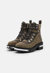 River Island - Platform ankle boots - khaki dark - 2