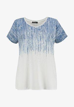 T-shirt med print - schneeweiß