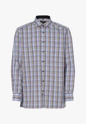 Shirt - braun hellblau