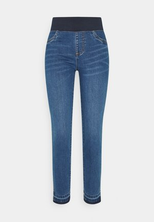SHANTAL RAW - Farkkuleggingsit - medium blue denim