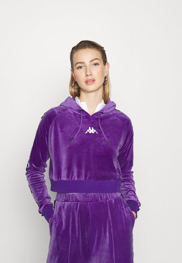 DAMAS - Felpa con cappuccio - violet/black